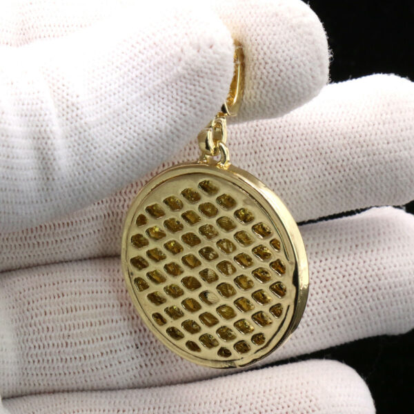 """Medallion Octagon Guadalupe w/5mm 24"""" Figaro Chain"""