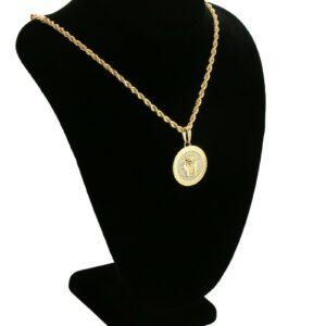 Egyptian Pharaoh Medallion w/20