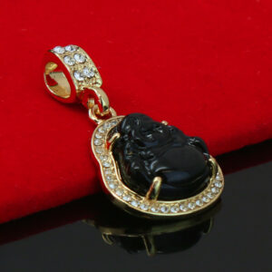 Buddha Black Charm Pendant With 5mm 18