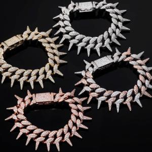 Iced Miami Spiked Cuban Link Fashion Jewelry Bracelet
