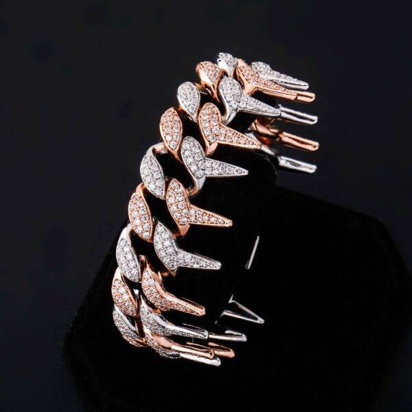 Iced Miami Spiked Cuban Link Fashion Jewelry Bracelet