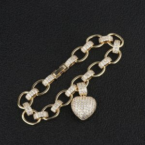 Women's Heart Link Fashion Jewelry Chain Necklace