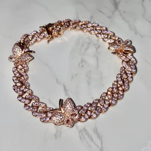 Iced Out Miami Cuban Link Butterfly Bracelet