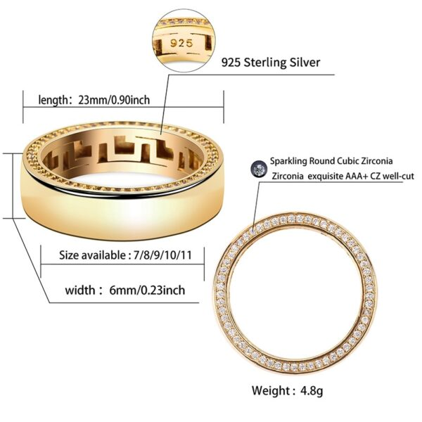 Couples Wedding Engagement Ring Set Gold/Silver Colors Sizes 7-11