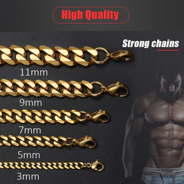 Men's Stainless Steel Miami Curb Cuban Link Chains