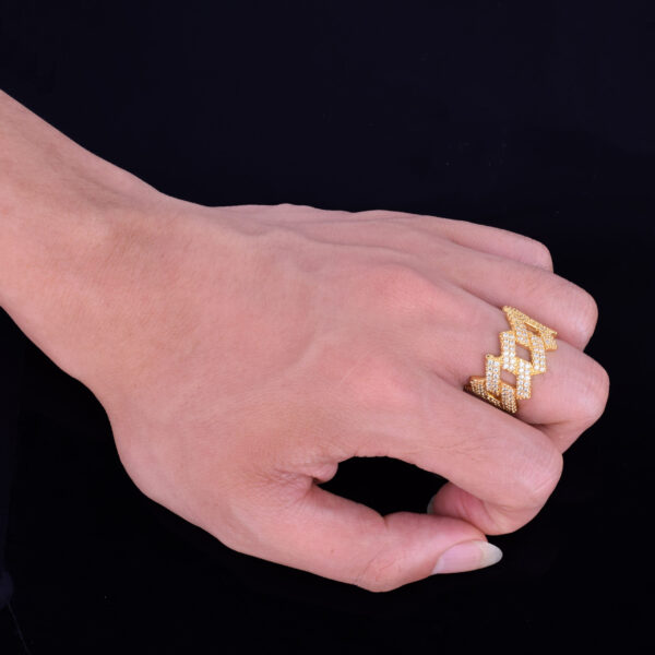 Iced Miami Cuban Link Style Unisex Pinky Ring