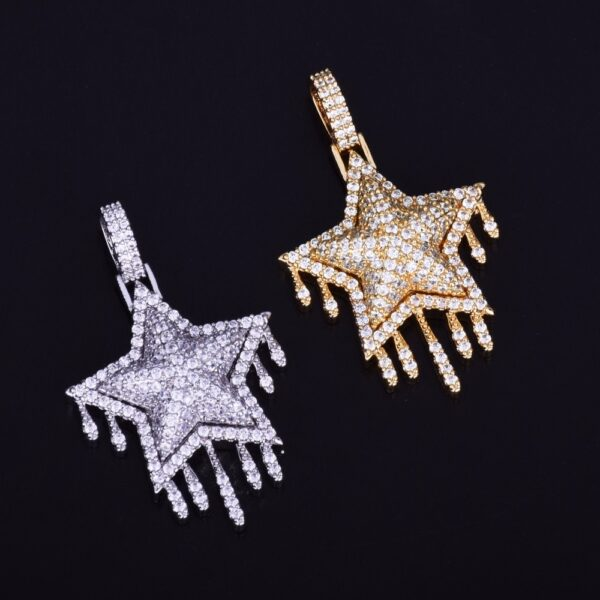 Drip Star Pendant Charm With Free Rope Chain