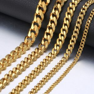 Miami Curb Cuban Link Chain Men Fashion Jewelry