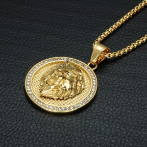 Ice Out Lion Head Pendant With 30