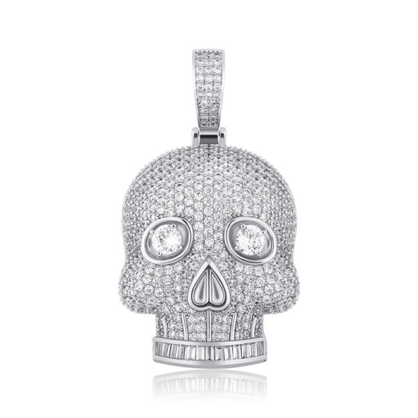 Iced Skull Skeleton Pendant With Necklace
