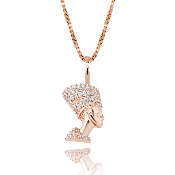 Iced Egyptian Pharaoh Pendant With Necklace