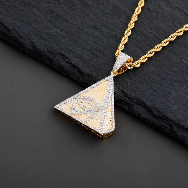 Egyptian Pyramid Eye of Horus Pendant Charm With Necklace Chain