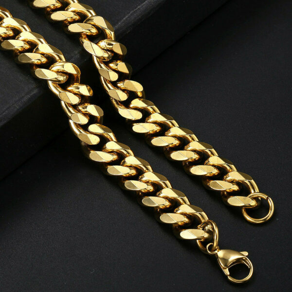 Miami Curb Cuban Link 14k Stainless Steel Necklace Chain