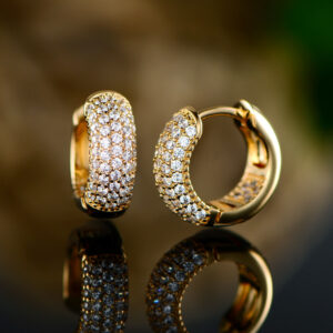 18K Gold Plated Swarovski Elements Hughie Hoop Earrings