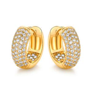 18K Gold Plated Swarovski Elements Hughie Hoop Earrings