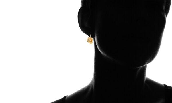 18K Two-Tone Gold Plated Flower Huggie Hoops Earrings