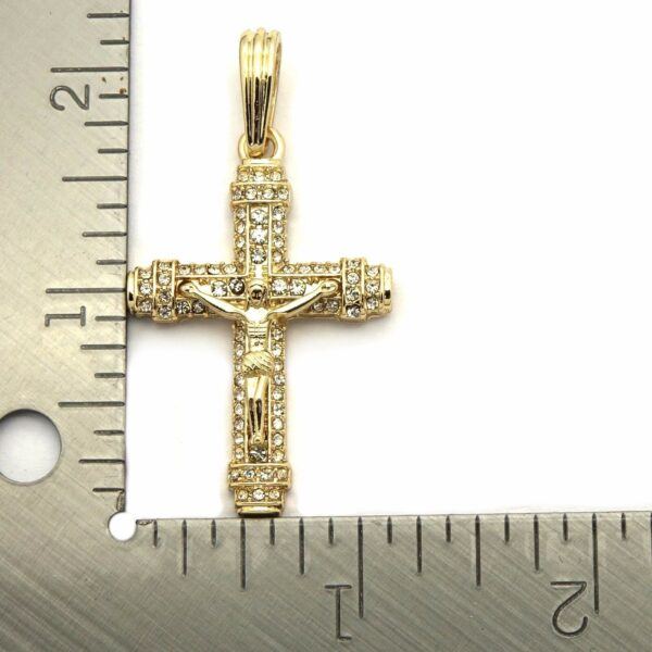"Jesus Christ Cross Pendant With 24"" Figaro Chain Necklace"