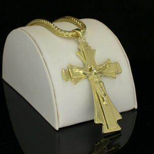 Large Crucifix Pendant w/24