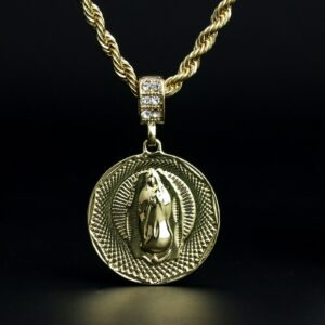 "Our Lady of Guadalupe Pendant w/24"" Rope Chain"