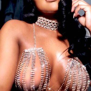 StoneFans Hollow Sexy Bra Chain Body Jewelry Women Rhinestone Crystal Bra Party Wear Breast Body Chain Jewelry for Women 2020
