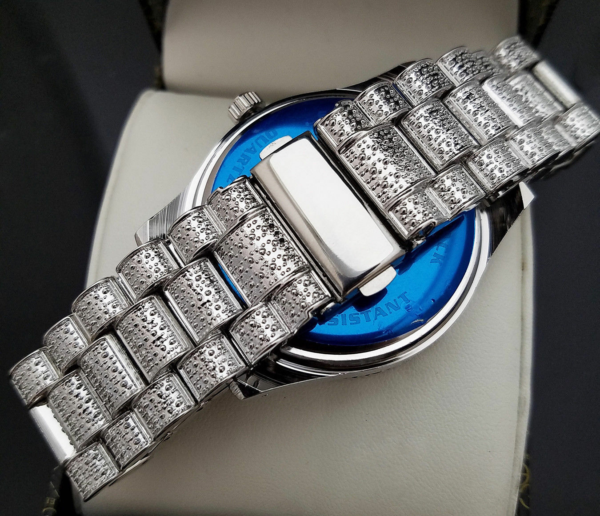 Men's Iced Bling Watch, Pinky Ring & Tennis 1 Row Bracelet Jewelry Set