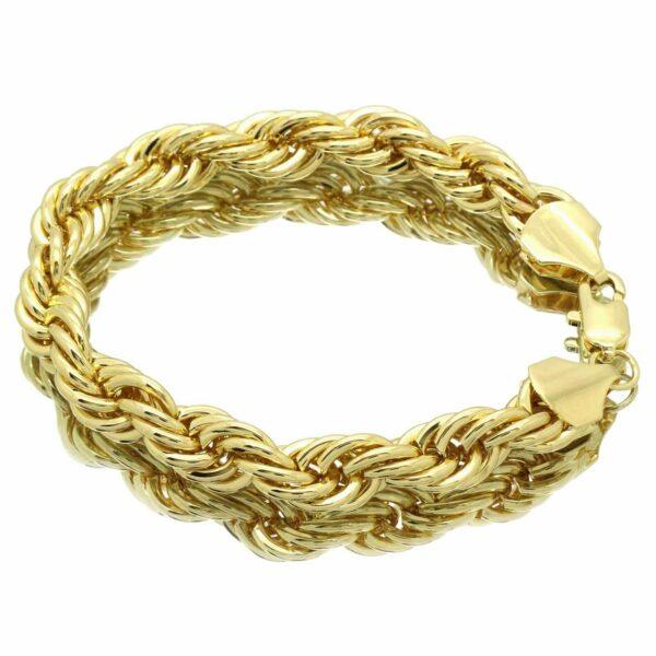 "Fashion 10mm Sparkling French Rope Bracelet 8"""