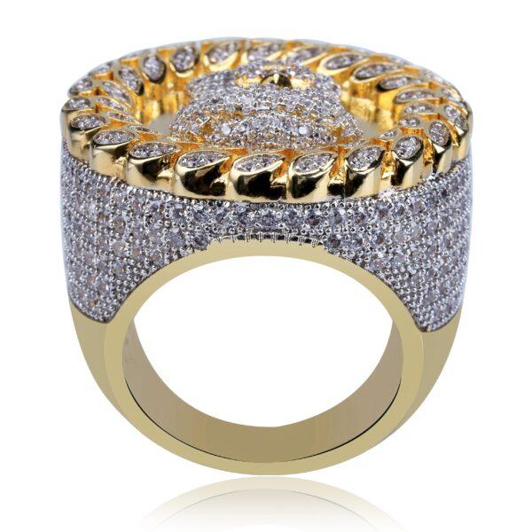 Iced Zircon Jesus Piece Pinky Ring Sizes 8 - 12