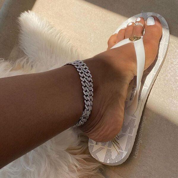 Women's Cuban Link Iced Out Anklet Bracelets