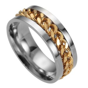 Men's Spinner Punk Fashion Jewelry Ring