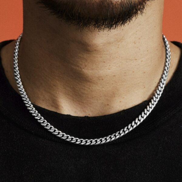 "D&Z Hip Hop Rapper's Cuban Chain Width 6mm 20"" 24"" 26 '' 30"" Gold Silver Color Stainless Steel Cuban Link Necklace Jewel"