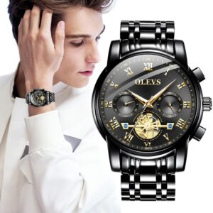 Watches Mens 2020 OLEVS Top Brand Luxury Business Fashion Chronograph Sport Waterproof Steel Quartz Clock Relogio Masculino