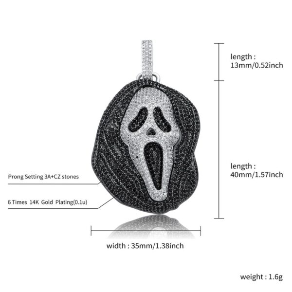 TOPGRILLZ 2020 New Fashion High Quality Iced Skull Pendant Necklace With Tennis Chain Cubic Zirconia Hip Hop Gift For Men