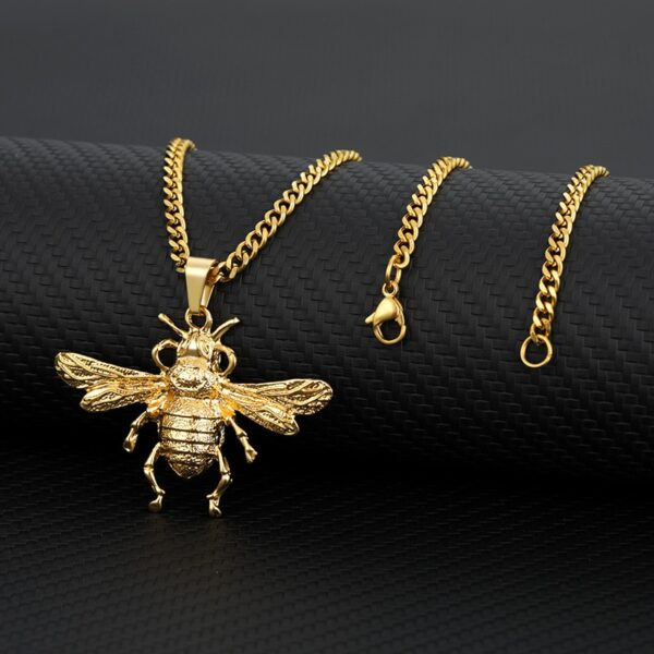 Honey Bee Charm Pendant With Necklace Chain Fashion Jewelry