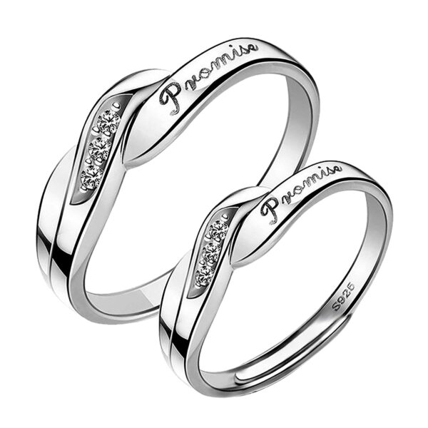 Couples His/Her Wedding Engagement Promise Ring