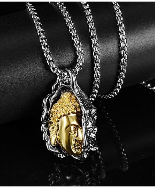 Unisex 2 Tone Demon Punk Fashion Jewelry Skull Charm Pendant With Necklace Chain