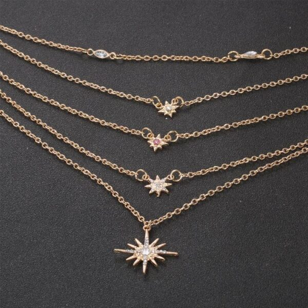 Fashion Stars Pendants Clavicle Chains Women's Multilayer Necklaces