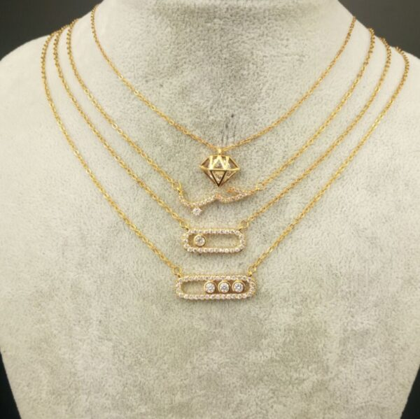 Vintage Fashion Love Set Long Bar Choker Necklace Chain For Unisex Jewelry