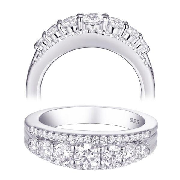 Women's Wedding Engagement 1.2Ct Round Cut AAA CZ Eternity Band