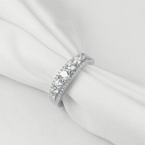 Women's Wedding Engagement 1.2Ct Round Cut AAA CZ Eternity Band