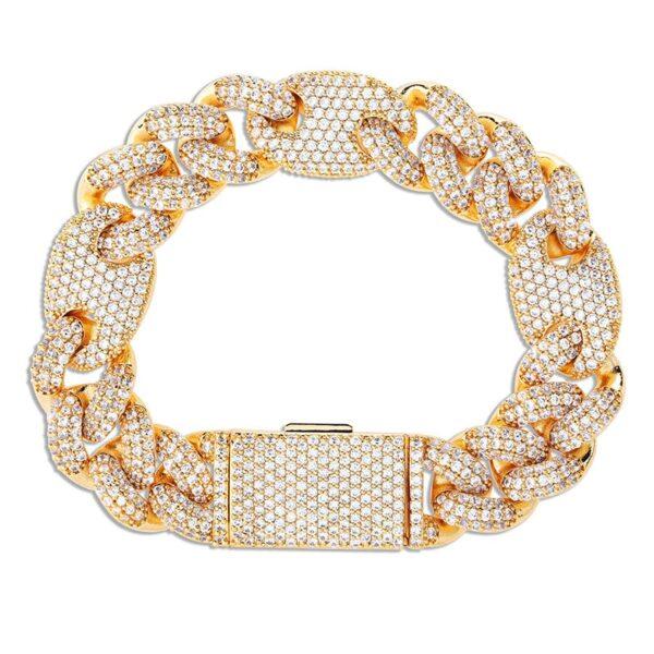 Men's 16mm Miami Iced Cuban Link Bracelet Sizes 7 To 9 Fashion Jewelry