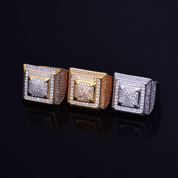 Men's Fashion Jewelry Iced Pinky Ring Gold/Silver Color