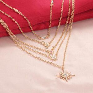 Fashion Stars Pendants Clavicle Chains Women's Multilayer Necklaces