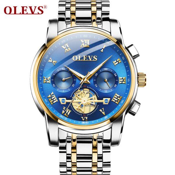 Watches Mens 2020 OLEVS Top Brand Luxury Business Fashion Chronograph Sport Waterproof Steel Quartz Clock Relogio Masculino