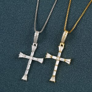 Jesus Crucifix Charm Pendant With Chain Necklace