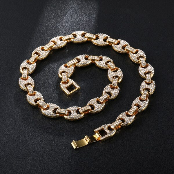 Icy Gucci Mariner Chain Necklace Mixed, Gold, Silver Color Fashion Jewelry