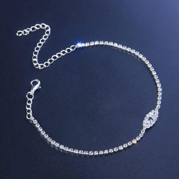Women's Blue Eye Boho Tennis Anklet Bracelet Fashion Jewelry