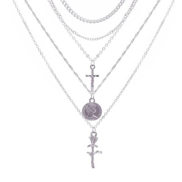 Stylish Bohemian Multi Layered Fashion Choker Necklace Jewelry Set