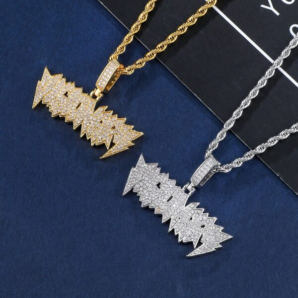 Visionary Iced Out Pendant Stones Zircon AAA+ With Necklaces