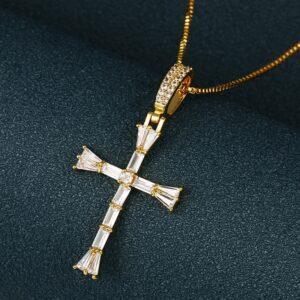 Jesus Crucifix Charm Pendant With Chain Necklace