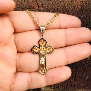 Beautiful Jesus Cross Pendant With Necklace 22""